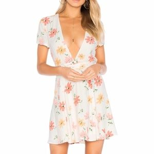 Privacy Please Off White Floral Dress